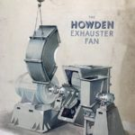 A beautiful hand-drawn poster of an industrial fan made by Howden's of Glasgow.